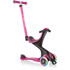 Globber Go-Up Comfort Lights Scooter with LED Wheels Kids, różowy/czarny